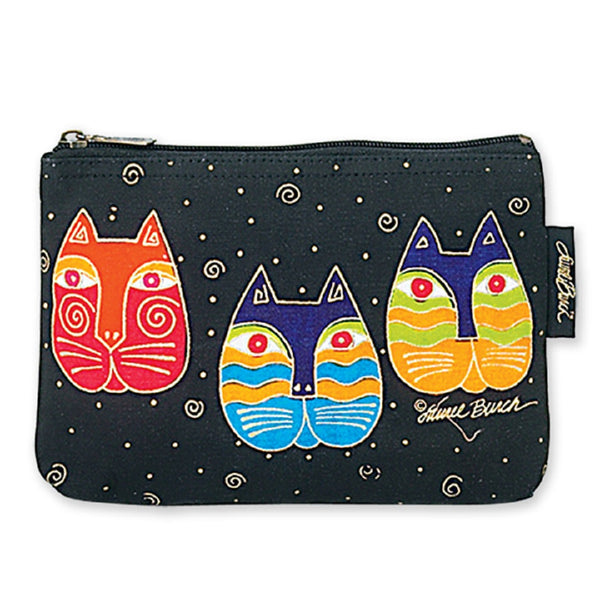 Cat Faces Cosmetic Bag Bags Laurel Burch Studios - Laurel Burch Studios