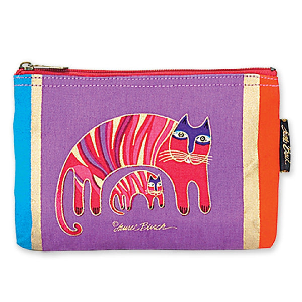 Feline Totem Cosmetic Bag Bags Laurel Burch Studios - Laurel Burch Studios