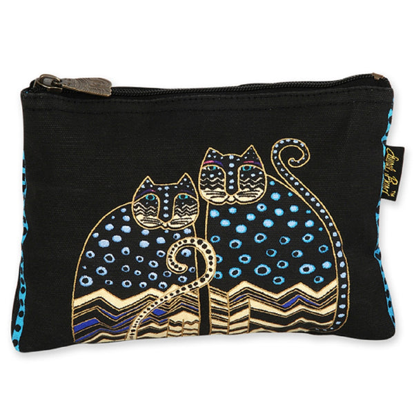 Polka Dot Gatos Feline Mini Cosmetic Bag Bags Sun'N'Sand - Laurel Burch Studios