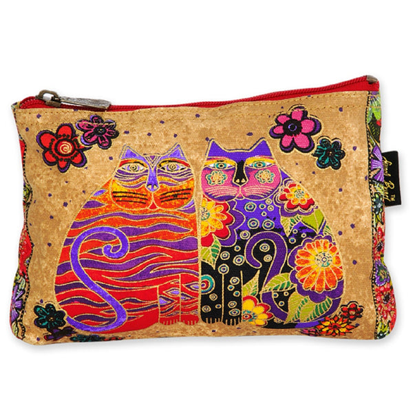 Blossoming Feline Mini Cosmetic Bag Bags Sun'N'Sand - Laurel Burch Studios