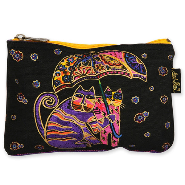 Rainy Day Feline Mini Cosmetic Bag Bags Sun'N'Sand - Laurel Burch Studios