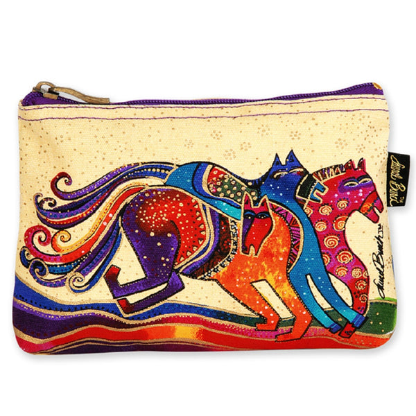 Caballos de Colores Long Cosmetic Bag Bags Laurel Burch Studios - Laurel Burch Studios