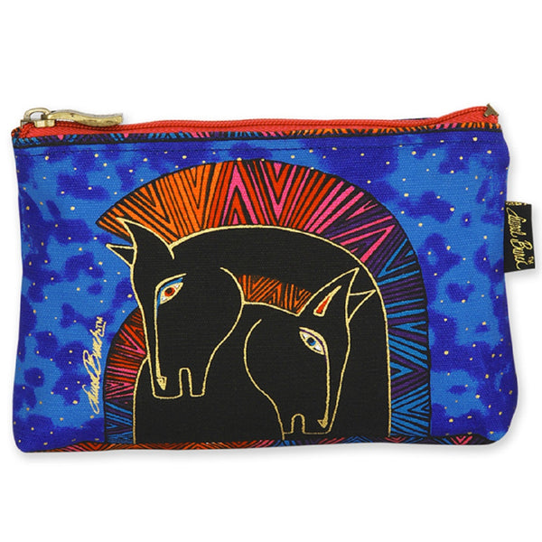 Embracing Horses Long Cosmetic Bag Bags Laurel Burch Studios - Laurel Burch Studios