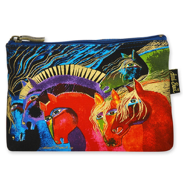 Wild Horses of Fire Long Cosmetic Bag Bags Laurel Burch Studios - Laurel Burch Studios