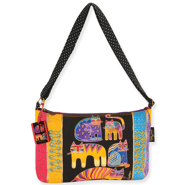 Fantastic Feline Totem Medium Crossbody Bags Laurel Burch Studios - Laurel Burch Studios