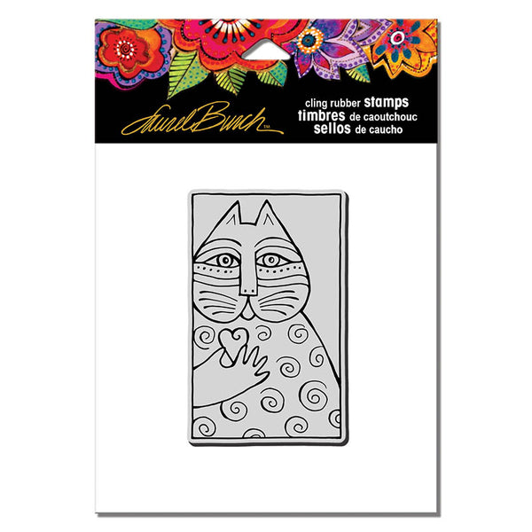 Cat Love Cling Rubber Stamp Stamps Laurel Burch Studios - Laurel Burch Studios