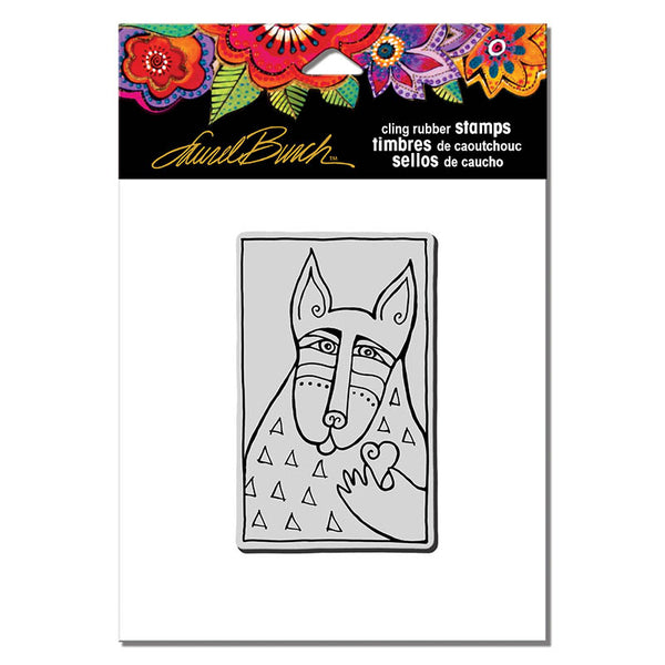 Dog Love Cling Rubber Stamp Stamps Laurel Burch Studios - Laurel Burch Studios