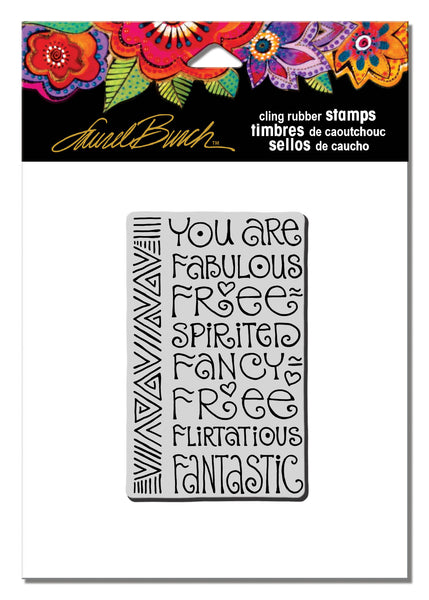 Fabulous Cling Rubber Stamp Stamps Laurel Burch Studios - Laurel Burch Studios