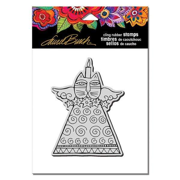 Feline Candle Rubber Stamp Stamps Laurel Burch Studios - Laurel Burch Studios