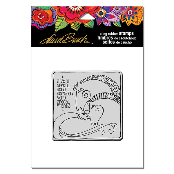 Aquatic Horses Cling Stamp Set Stamps Laurel Burch Studios - Laurel Burch Studios