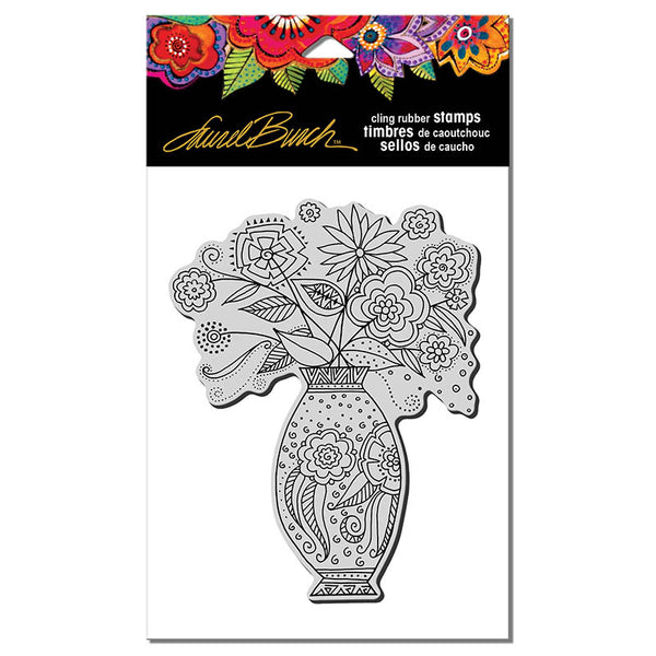 Floral Vase Cling Stamp Set Stamps Laurel Burch Studios - Laurel Burch Studios