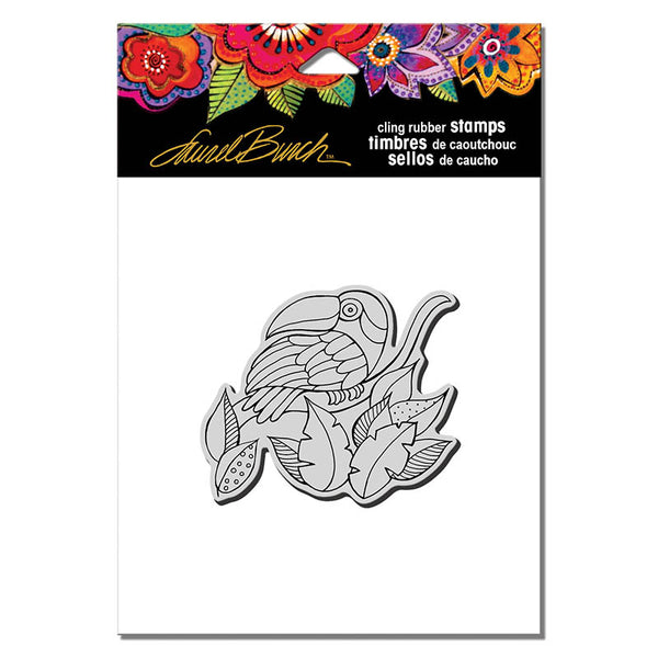 Toucan Cling Stamp Set Stamps Laurel Burch Studios - Laurel Burch Studios