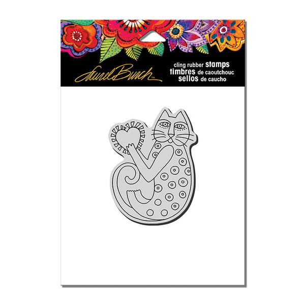 A Happy Heart Cling Stamp Set Stamps Laurel Burch Studios - Laurel Burch Studios