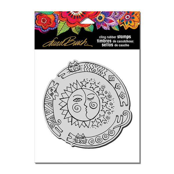 Sun Chase Cling Stamp Set Stamps Laurel Burch Studios - Laurel Burch Studios