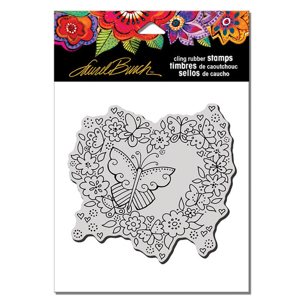 Butterfly Heart Cling Stamp Set