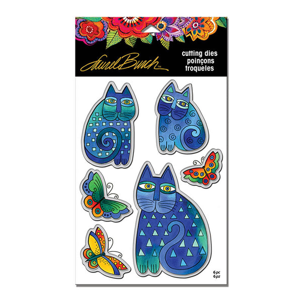Indigo Cats Cutting Dies Stamps Laurel Burch Studios - Laurel Burch Studios