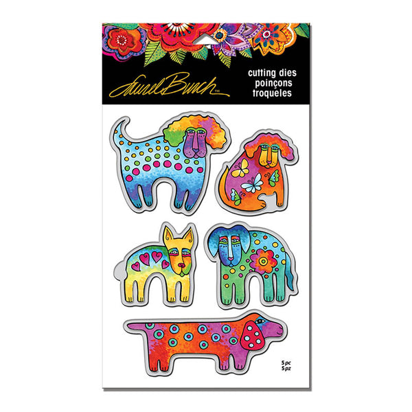 Dog Park with Template Die Set Stamps Laurel Burch Studios - Laurel Burch Studios