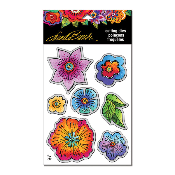 Blossoms Die Set Stamps Laurel Burch Studios - Laurel Burch Studios