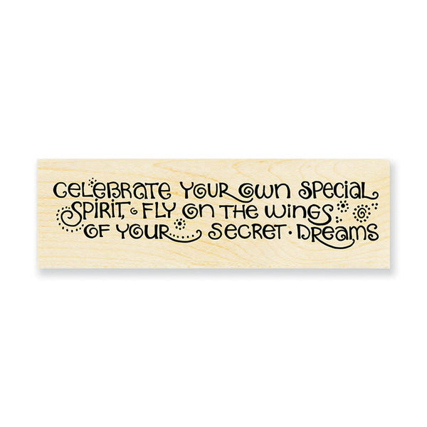 Celebrate Dreams Wooden Stamp Stamps Laurel Burch Studios - Laurel Burch Studios