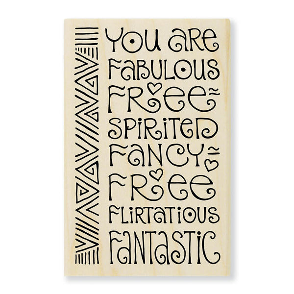 Fabulous Wooden Rubber Stamp Stamps Laurel Burch Studios - Laurel Burch Studios