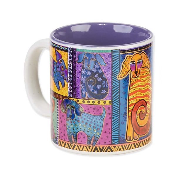 Dog Tails Patchwork Mug Mugs Sunu0027Nu0027Sand   Laurel Burch Studios