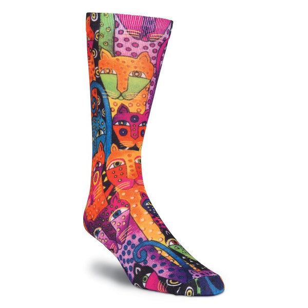 Men's Polka Dot Leopard 360 Crew Socks Men's Socks K. Bell Socks - Laurel Burch Studios