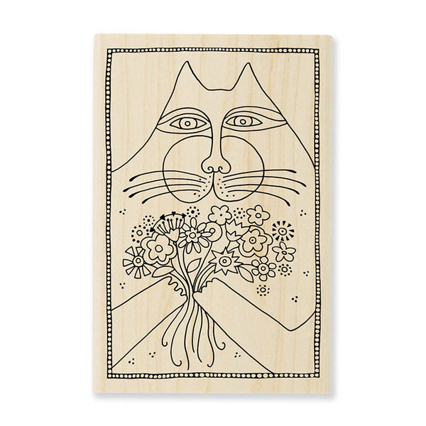 A Bunch of Love Wooden Rubber Stamp Stamps Laurel Burch Studios - Laurel Burch Studios