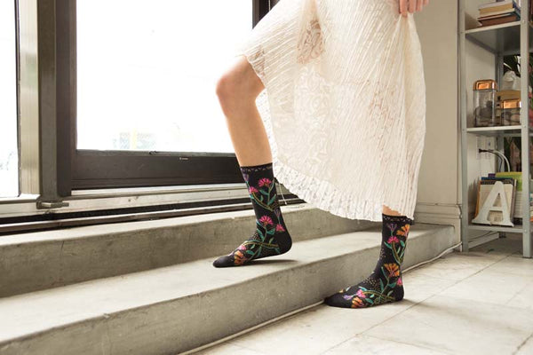 Women's Wild Flowers Crew Socks