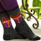 Women's Native Cat Crew Socks