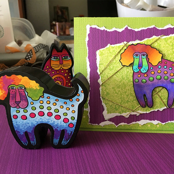 Dog Curio Stamp Stamps Laurel Burch Studios - Laurel Burch Studios