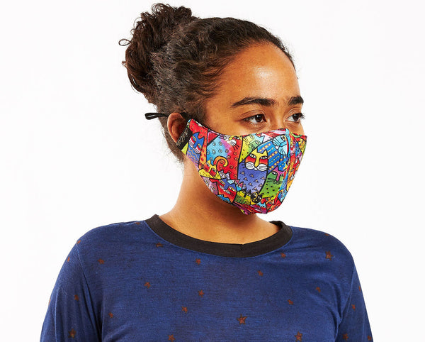 Feline Tribe Adjustable Poly-Cotton Face Mask