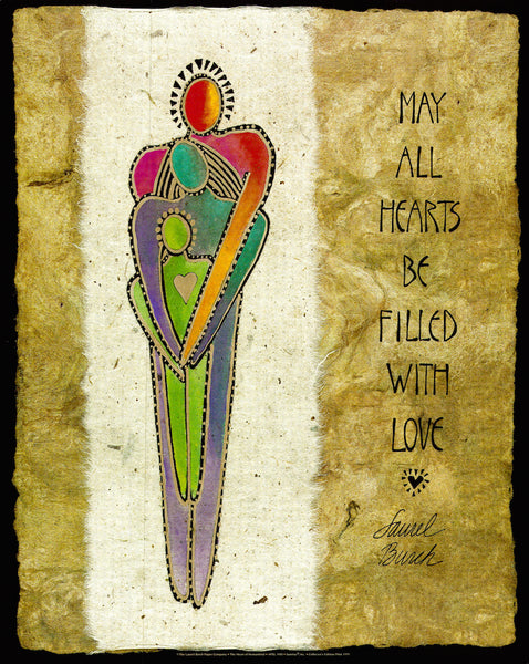 May All Hearts Be Filled With Love Print Prints Laurel Burch Studios - Laurel Burch Studios