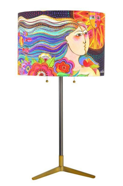 Mikayla Lamp Lamp Narrative Decor - Laurel Burch Studios