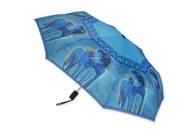 Teal Mares Umbrella Umbrellas Sun'N'Sand - Laurel Burch Studios