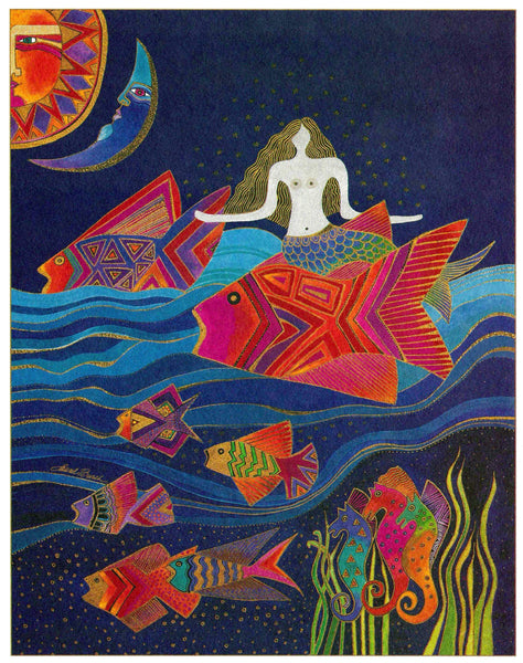 Sea Goddess Print Prints Laurel Burch Studios - Laurel Burch Studios