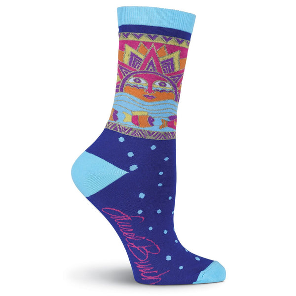 Sun Fish Socks Women's Socks K. Bell Socks - Laurel Burch Studios