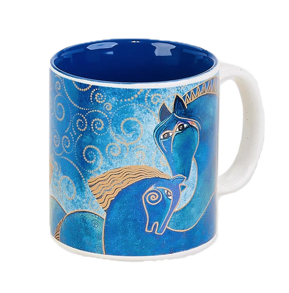 Teal Mares Mug Mugs Sun'N'Sand - Laurel Burch Studios