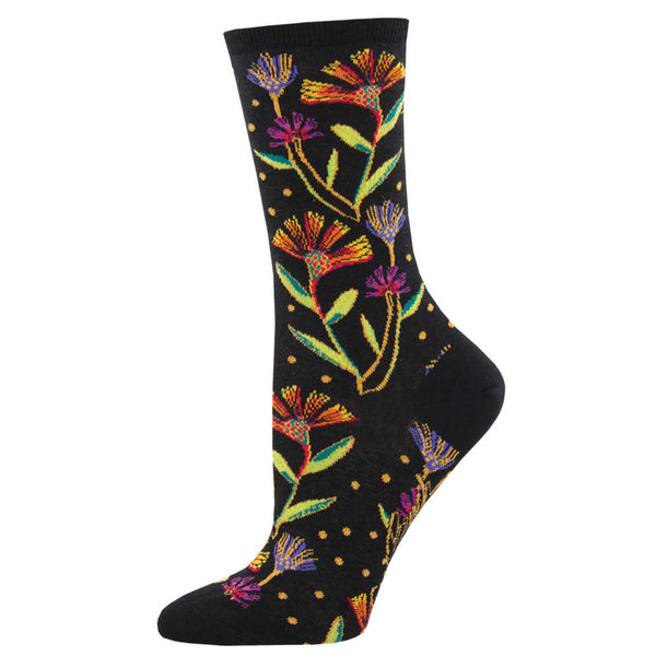 Laurel Burch Womens Crew Socks 2 Pair Cat Fish /& Rainbow Cat