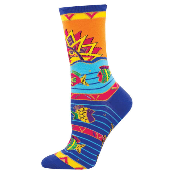 Sun, Water, Fish Women's Crew Socks – Multi