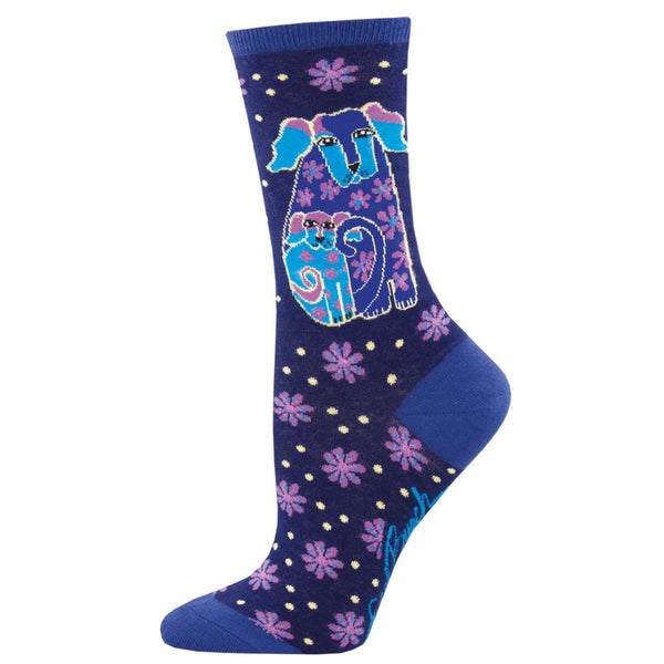 Women's Dog & Doggie Crew Socks – Blue