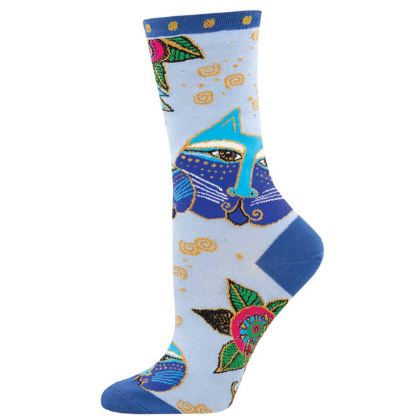 Women's Carlotta Cats Crew Socks – Blue