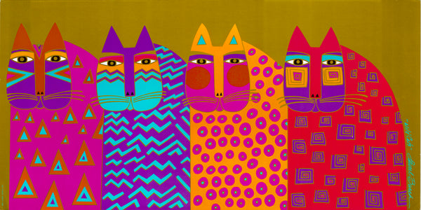 Wild Cats Print Prints Laurel Burch Studios - Laurel Burch Studios