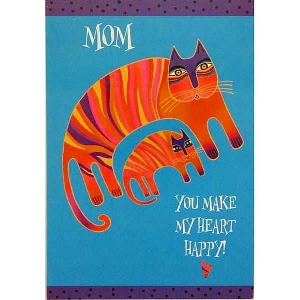 Mother's Day Card: Striped Cat