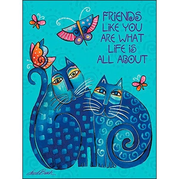 Friendship Card: Blue Cats