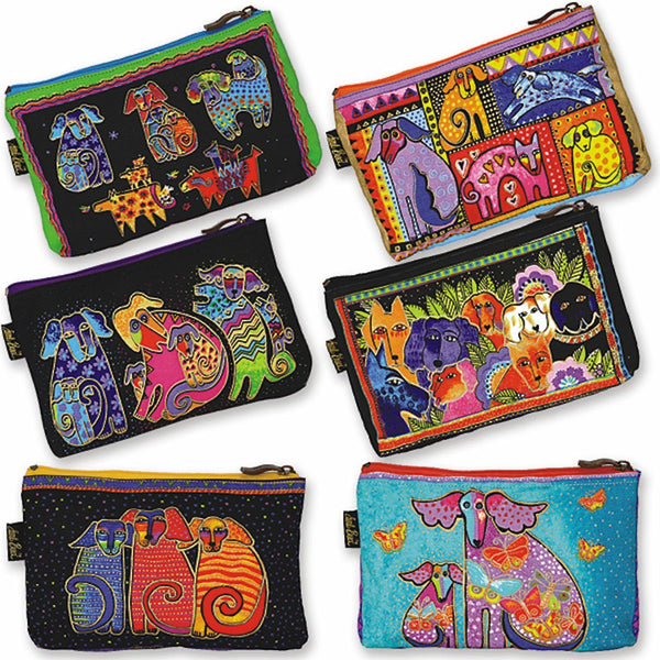 Dog Tales Patchwork Cosmetic Bag Bags Laurel Burch Studios - Laurel Burch Studios