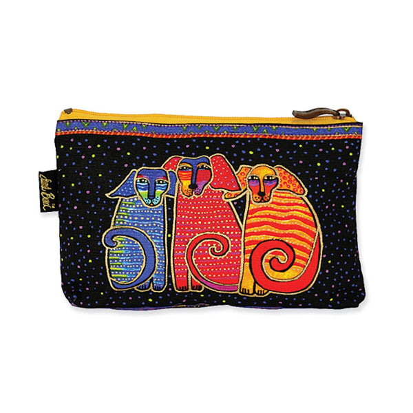 Dog Tales Canine Friends Cosmetic Bag Bags Laurel Burch Studios - Laurel Burch Studios