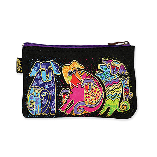 Dog Tales Dogs and Doggies Cosmetic Bag Bags Laurel Burch Studios - Laurel Burch Studios