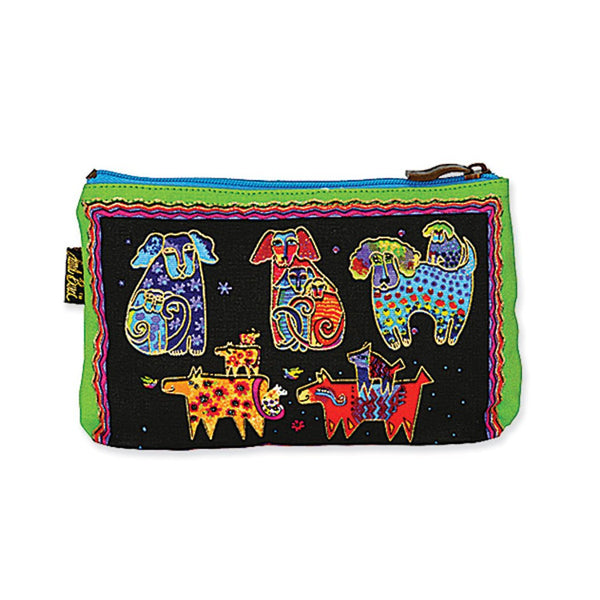 Dog Tales Canines and Dogs Cosmetic Bag Bags Laurel Burch Studios - Laurel Burch Studios