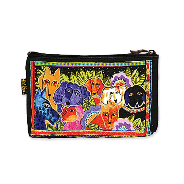Dog Tales Canine Family Cosmetic Bag Bags Laurel Burch Studios - Laurel Burch Studios