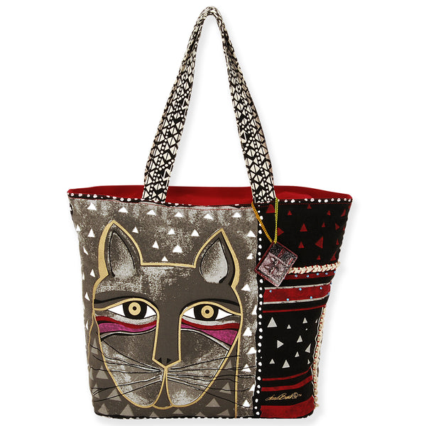 Whiskered Cat Shoulder Tote